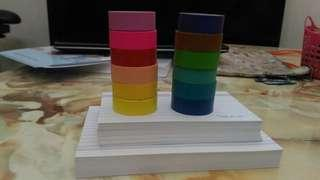 Flashcards and colourful tapes