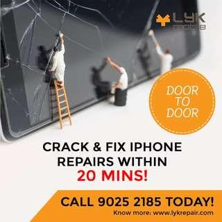 ✅Fast iPhone Crack Lcd replacement , iPhone 8 lcd screen fix