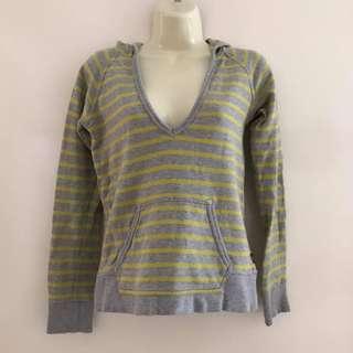Guc Size 8 ladies Bonds plunge striped hood sweater jumper