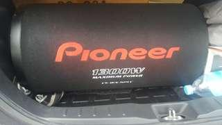 Pioneer amp and tube subwoofer