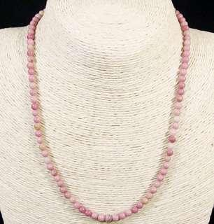 Stone Beaded Necklace Natural Gemstone(Rhodonite Jasper)