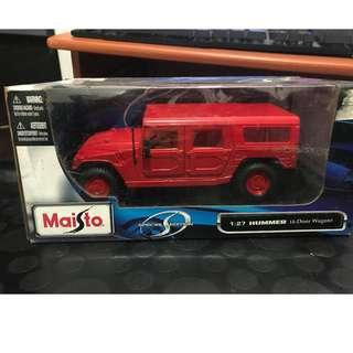 Maisto 1:27 Hummer (4-Door Wagon) Red Special Edition