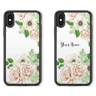 Custom White Floral Phone Case