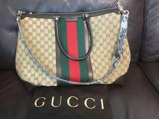20b0fffcc41 Gucci Vintage Web Tote(bought locally)