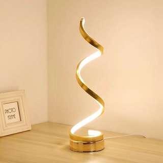 Creative Art Bedside Table Desk Light Gold or White