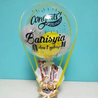 Hot air balloons chocolate