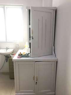 Jual lemari / laci serbaguna putih