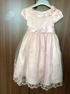 女童粉紅色紗裙  花女裙  #LadiesXmasGift