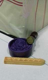 Hogwarts paperweight & wax seal stamp