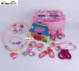 🚚 Peppa Pig Jewelry / Hair Accessories Gift Set (Big) for Baby Kids Children Girl A046B