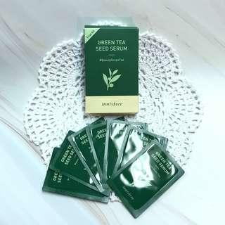 包郵📦innisfree 綠茶籽精萃柔膚水 green tea seed skin trial kit sample 試用裝 1ml x 7