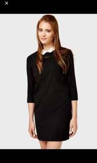 Zara peterpan collar dress