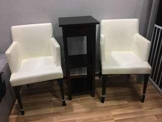 To clear ASAP chair and table set