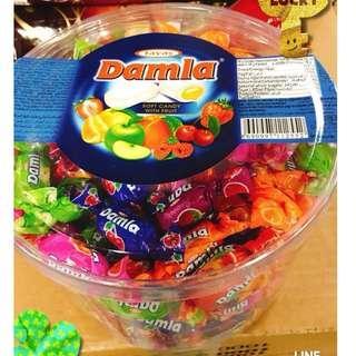 土耳其Damla什錦軟糖-水果爆漿夾心軟糖/✨1公斤綜合大包裝