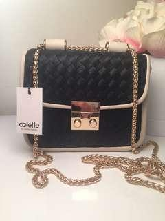 Colette Tay Weave Crossbody Bag