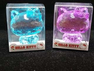 Hello Kitty 塑膠水晶造型擺設