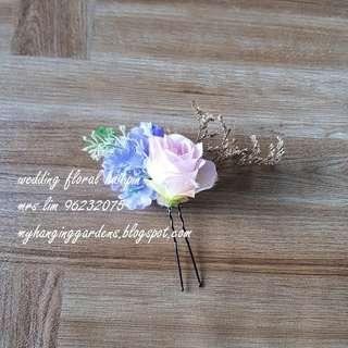 Wedding floral pin