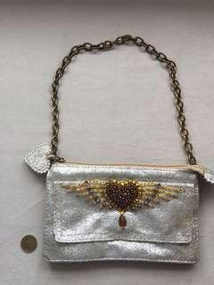 Evening bag - crushed gold leather #PayDay30