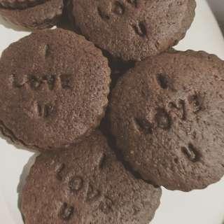 Personalized stamp sugar cookies