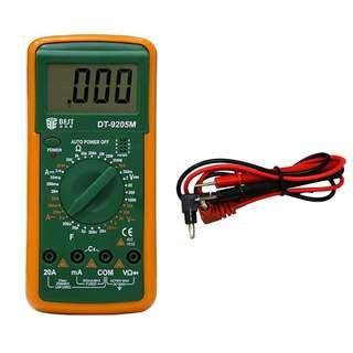 數位 智慧型 物理三用電表 (萬用電表)電壓 電流 電量 電源 電阻 測量器 multimeter AC volt meter voltage meter ohm meter