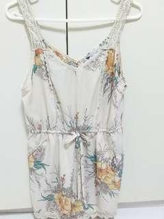 Floral Top  tempt jumpsuit size 10.