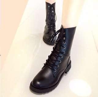 [PO] Black Laced Combat Boots