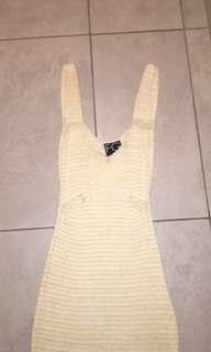 Crotchet creme dress