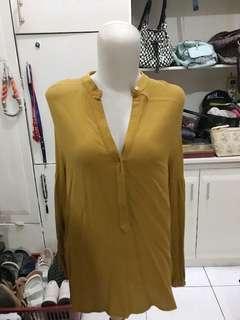 Zara Original Mustard Blouse