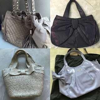 🎀大蝴蝶結手袋 Big Ribbon Handbag 🎀 1st & 2nd Hand cute bags  一二手可愛袋子 juicy follie Franche twin-sets
