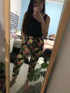 Vanishing Elephant Floral Pants