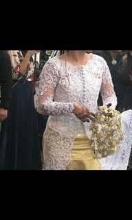 Kebaya Wedding Top with Long Train