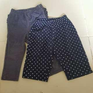 Baby pants leggings 6-12m polka dots denim bundle