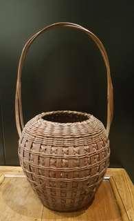 中古日本竹花器
