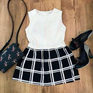 Black&White Mini Dress