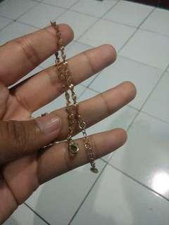 Gelang tangan perhiasan imitasi gold 18k
