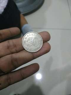duit syiling 50 tahun 1969 serius nk jual