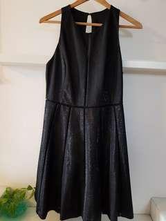 Saturday Club Shimmering Black Racer Back Skater Dress- M (with normal postage)