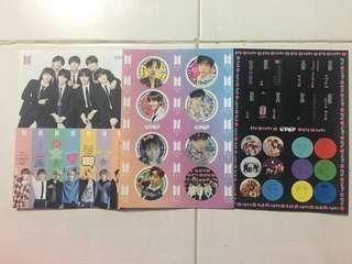 BTS epop magazine stickers