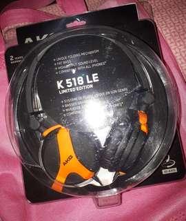 NEW - AKGK 518 LE Limited Edition FoldingHeadphones- Orange