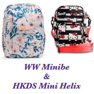 Ju-Ju-Be RG Whimsical Watercolour Minibe & Hello Kitty Dots Stripes Mini Helix