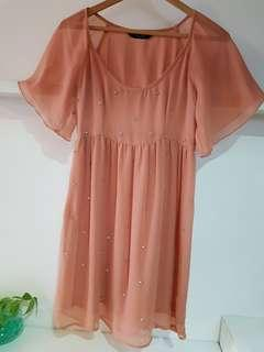 Dorothy Perkins Chiffon Skater Dress- Uk8 (with normal postage)