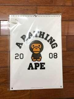 🚚 A bathing Ape 月曆