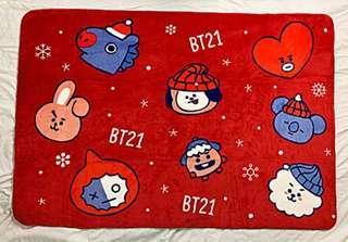 BTS x BT21 blanket