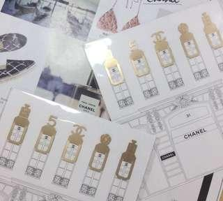 Chanel VIP Gift Mini Bookmark 迷你書簽 書籤 x 5