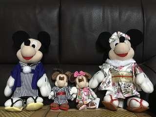 米奇米妮日本和服👘裝(一套四件)