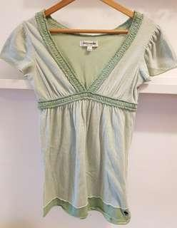 02 pcs Abercrombie baby doll top/t-shirt with Camisole- S (with normal postage)