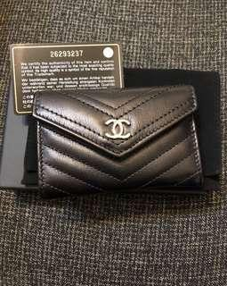 Chanel card holder coins bag small wallet