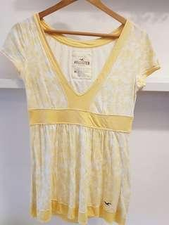 2 pcs Hollister yellow top/t-shirt and Camisole- M (with normal postage)