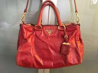 Authentic Sexy Red Prada Bag (No Low Baller)