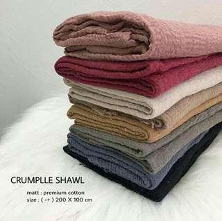 Jilbab Hijab Pashmina Syal Chrinkle Crumple Shawl Murah Modis Best Seller Selebgram Lembut Nyaman